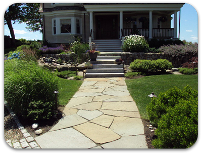 Picture of a natural stone walkway